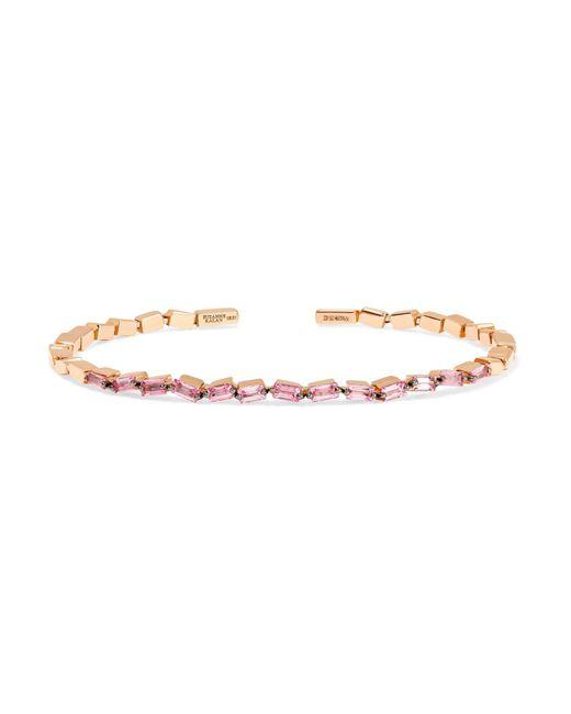Suzanne Kalan | Metallic 18-karat Rose Gold Sapphire Cuff | Lyst
