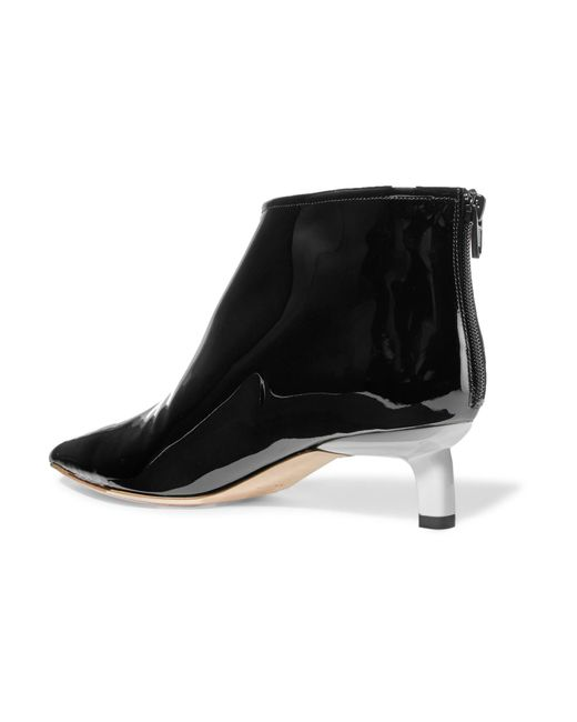 Ankle Leather Lyst Marta Black Patent In Boots Rejina Pyo q8Iwtt