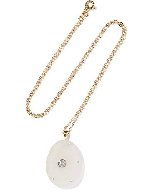 Cvc Stones   Metallic Cumulus 18-karat Gold, Stone And Diamond Necklace   Lyst