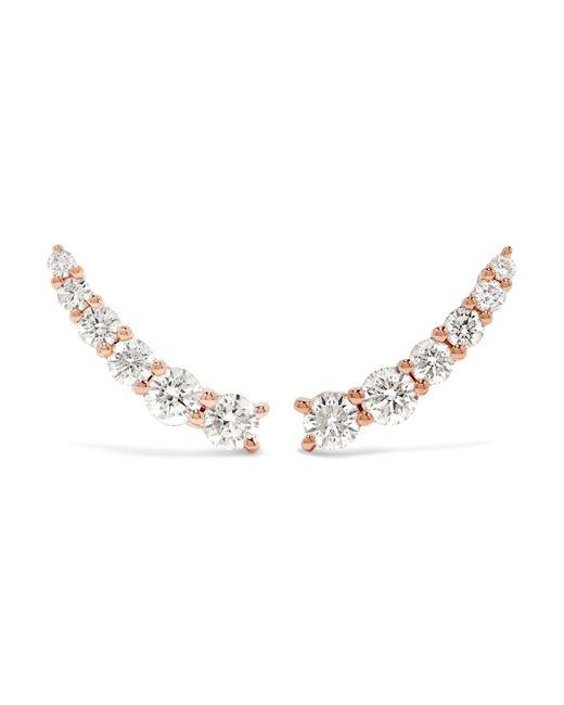 Anita Ko - Metallic Floating 18-karat Rose Gold Diamond Earrings - Lyst