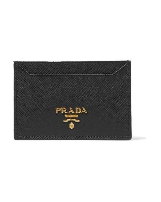 25221dcce77e Prada Textured-leather Cardholder in Black - Save 4% - Lyst