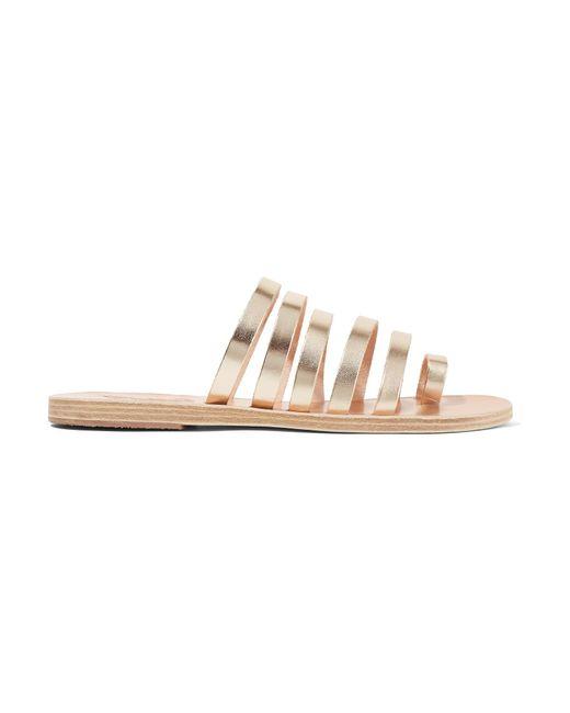Ancient Greek Sandals | Niki Metallic Leather Sandals | Lyst
