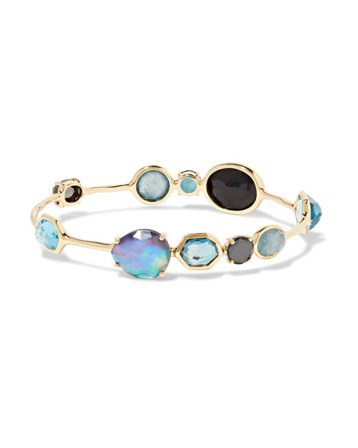 Ippolita | Metallic Rock Candy Open Gelato Kiss 18-karat Gold Multi-stone Bracelet | Lyst