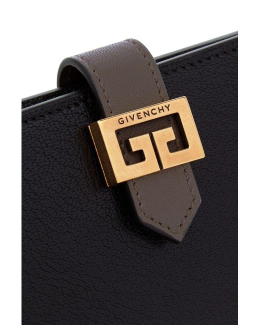Gv3 Smooth And Textured-leather Wallet - Black Givenchy DTXDn5G