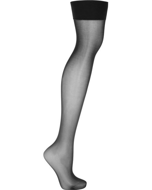 Wolford - Black Individual 10 Denier Stay-up Stockings - Lyst