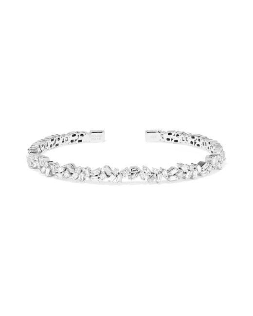 Suzanne Kalan - Metallic Medium Flexible Baguette Diamond Firework Bangle - Lyst
