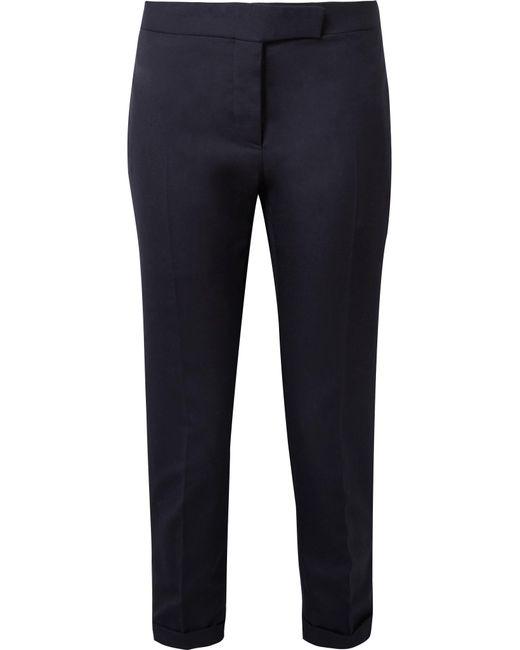 Thom Browne - Blue Cropped Wool-pique Skinny Pants - Lyst