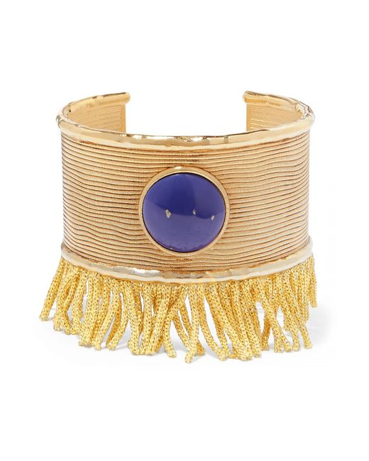 Aurelie Bidermann - Blue Azzura Gold-plated Resin Cuff - Lyst