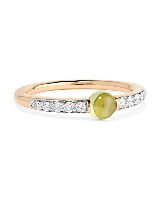 Pomellato - Metallic M'ama Non M'ama 18-karat Rose Gold, Diamond And Peridot Ring - Lyst