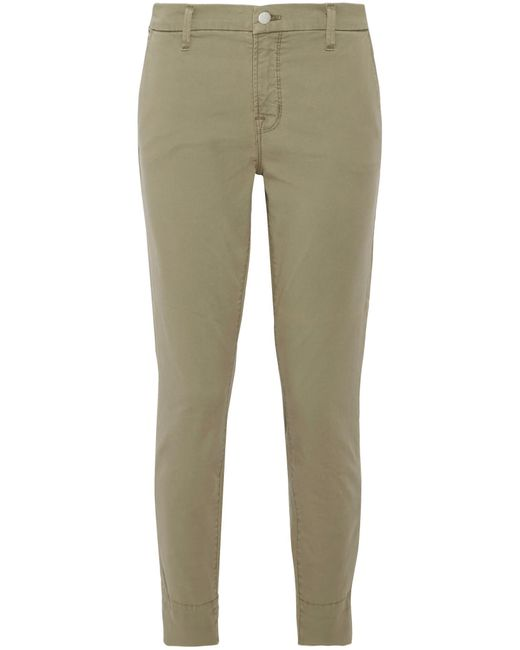J Brand | Green Josie Stretch Cotton-blend Twill Skinny Pants | Lyst