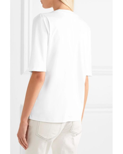 Cold-shoulder Cotton-jersey T-shirt - White Dion Lee