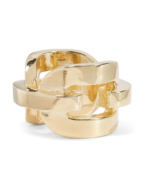 Jennifer Fisher - Metallic Chain Link Gold-plated Ring - Lyst