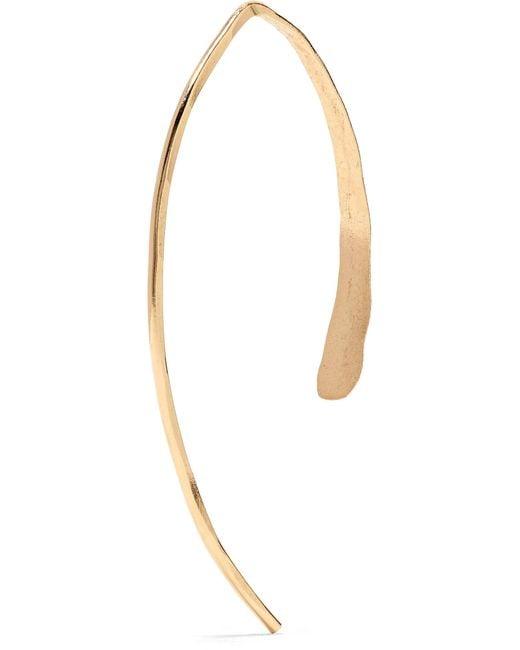 Lyst Melissa Joy Manning Wishbone 14 Karat Gold Earrings In Metallic