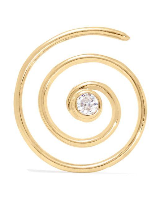 Beaufille Ringlet 10-karat Gold Diamond Earring gFCZEIu9D
