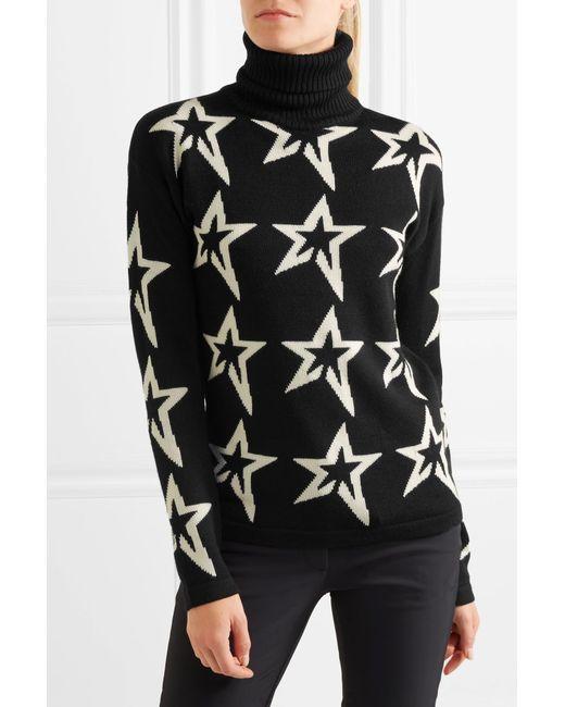 Perfect moment Stardust Intarsia Merino Wool Turtleneck Sweater in ...