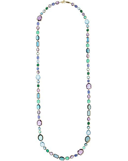 Ippolita - Metallic Rock Candy Sofia 18-karat Gold Multi-stone Necklace Gold One Size - Lyst