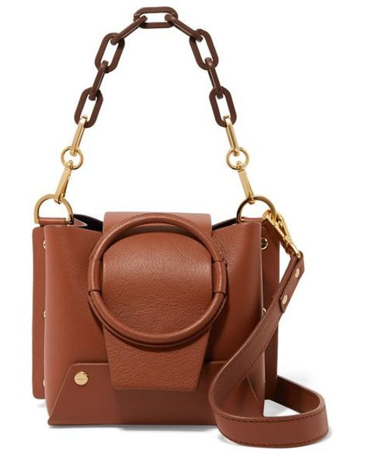 057b9cf815f9 Yuzefi - Brown Delila Mini Textured-leather Shoulder Bag - Lyst ...