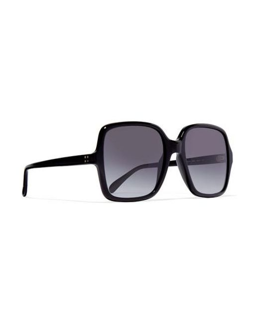 78ab8813240c ... Givenchy - Black Oversized Square-frame Acetate Sunglasses - Lyst ...