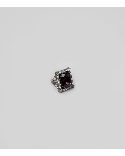 New Look | Dark Red Rectangle Stone Cocktail Ring | Lyst