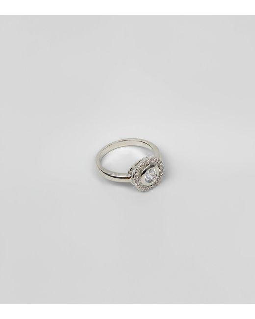 New Look | Metallic Silver Diamante Ring | Lyst