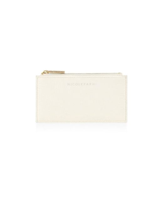 Nicole Farhi | Natural Small Zip Top Pouch | Lyst
