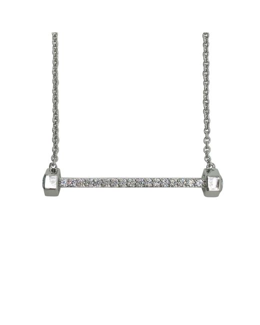 Nicole Miller | Metallic Bolt Bar Necklace | Lyst