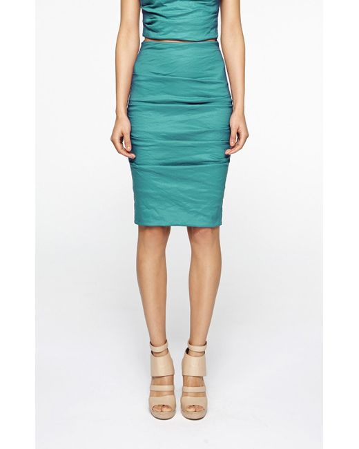 Nicole Miller | Blue Sandy Skirt | Lyst