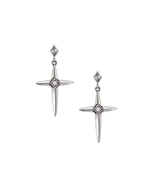 Nicole Miller | Metallic Spike Cross Earrings | Lyst
