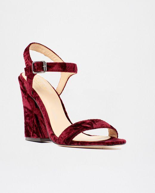 Nicole Miller - Red Brescia Sandal - Lyst