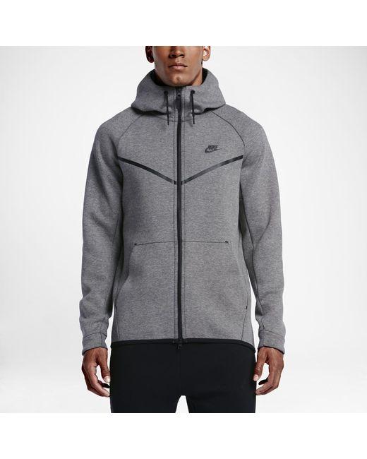 Nike - Black Sportswear Tech Fleece Windrunner Men s Hoodie for Men - Lyst ed16b6fd6fb4