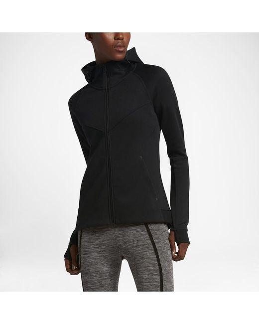 a0d2fa605e71 Lyst - Nike Sportswear Tech Fleece Women s Full-zip Hoodie in Black