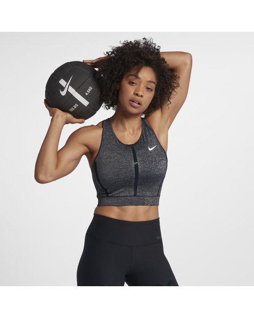 455dcd252c5325 Lyst - Nike Pro Hypercool Cropped Women s Training Tank in Black