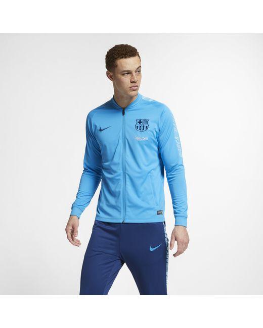 9d9ecfd4c Nike - Blue Fc Barcelona Dri-fit Squad Football Track Suit for Men - Lyst  ...