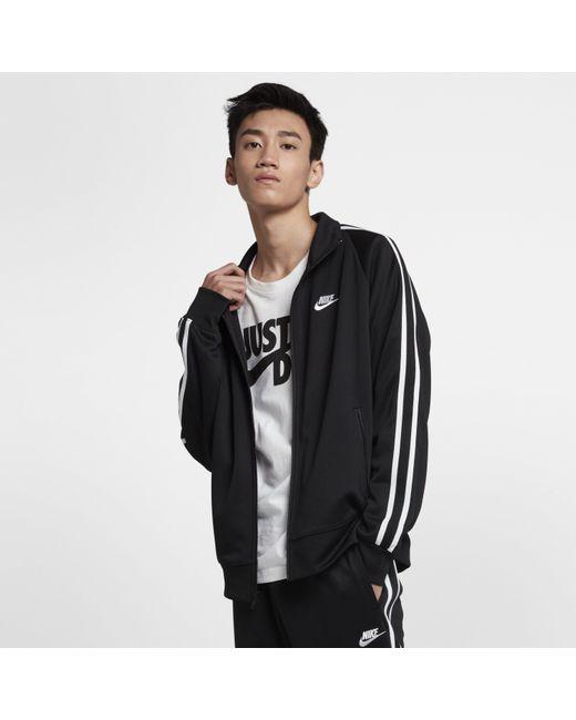 2942a876e Nike - Black Sportswear N98 Knit Warm-up Jacket for Men - Lyst ...