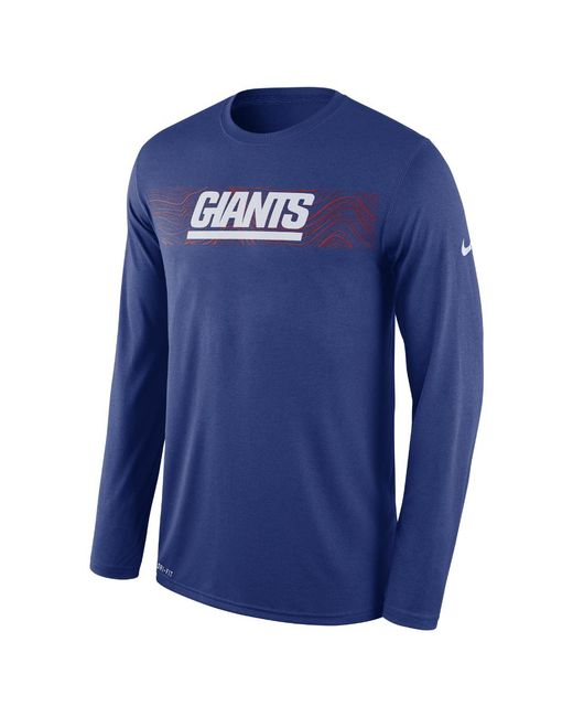 e51d69f9f Lyst - Nike Dri-fit Legend Seismic (nfl Giants) Men s Long Sleeve T ...