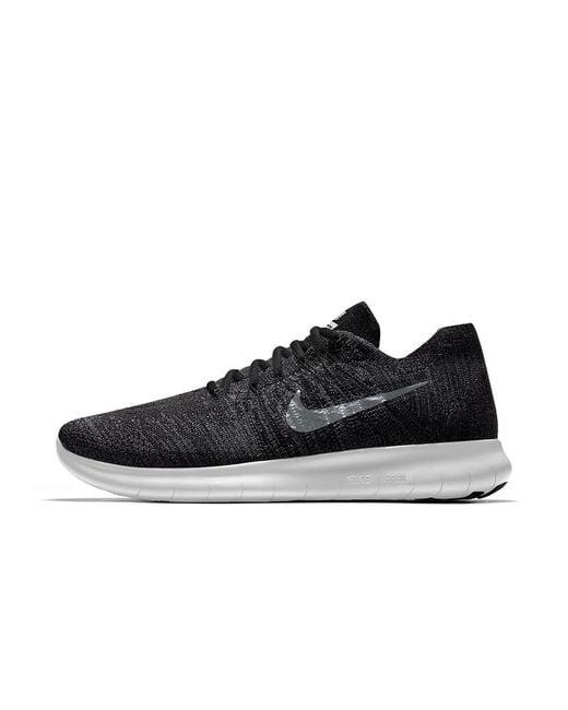 Lyst - Nike Free Rn Flyknit 2017 Id Men s Running Shoe in Black for Men 7962703e1