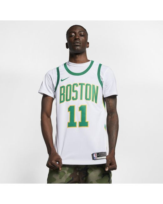separation shoes aa345 1fd71 Men's White Kyrie Irving City Edition Swingman (boston Celtics) Nba  Connected Jersey