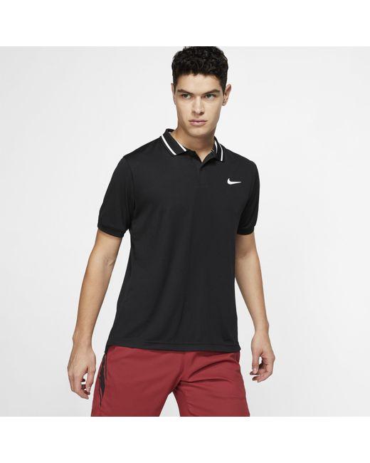 4e12200ad4ed Nike - Black Court Dri-fit Tennis Polo for Men - Lyst ...