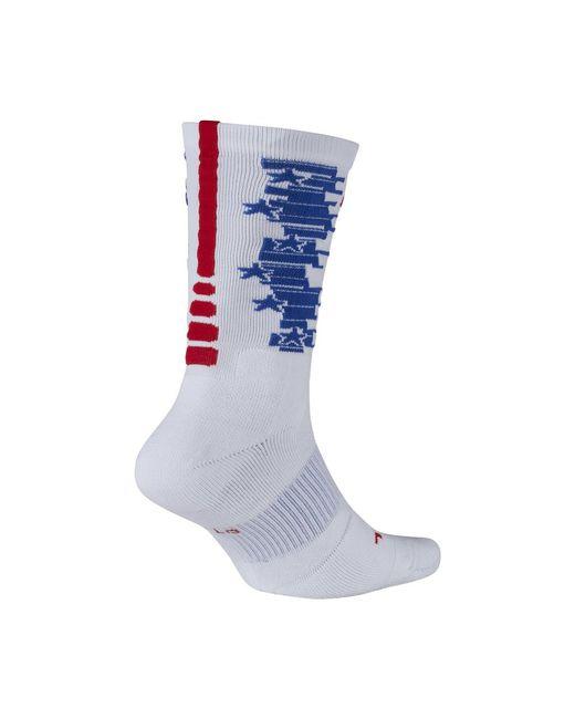 Nike - Blue Elite Crew 4th Of July Basketball Socks for Men - Lyst