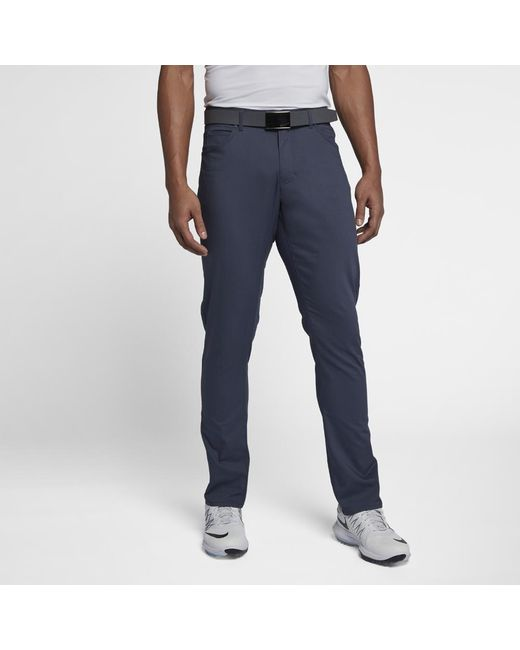 343973d8640 Lyst - Nike Flex 5 Pocket Men s Slim Fit Golf Pants in Blue for Men