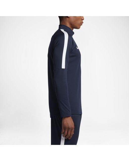 d0f8f5fad ... Nike - Blue Dri-fit Academy 1/4 Zip Football Drill Top for Men ...