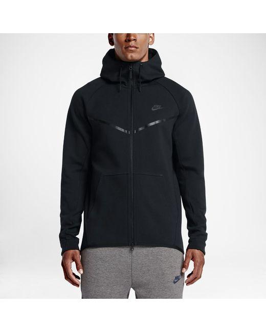 49b2e4bbf66f Nike - Black Sportswear Tech Fleece Windrunner Men s Hoodie for Men - Lyst