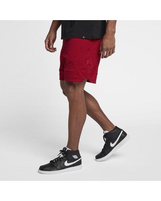 952056ee763 Lyst - Nike Sportswear Jumpman Men's Knit Shorts, By Nike in Red for Men