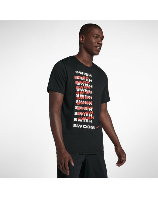 86341597bf9a45 Lyst - Nike Dri-fit Men s Basketball T-shirt in Black for Men