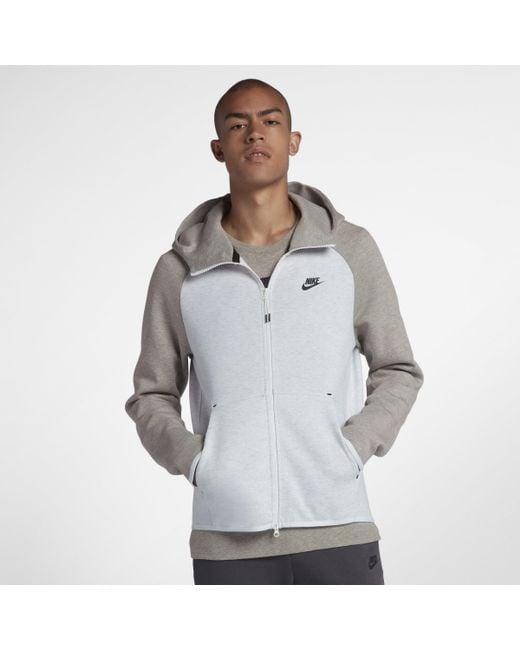 782d7840ec6287 Nike Sportswear Tech Fleece Full-zip Hoodie in Gray for Men - Lyst