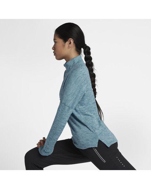 Nike - Blue Therma Sphere Element Women's Long Sleeve Running Half-zip Top - Lyst