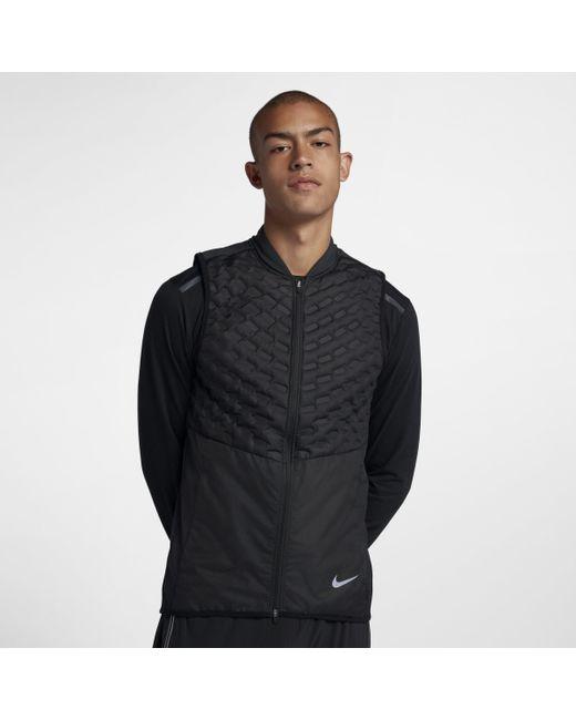 Nike Aeroloft Running Gilet in Black for Men - Save 13% - Lyst 99e871534