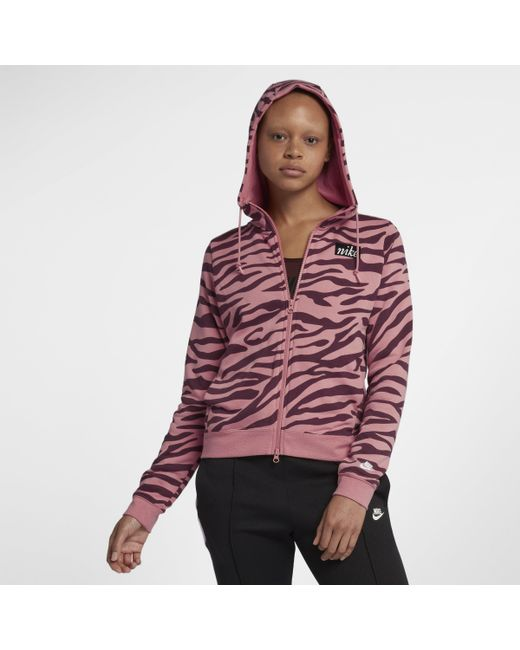 4d950250c0b70 Nike Sportswear Full-zip Hoodie in Pink - Lyst
