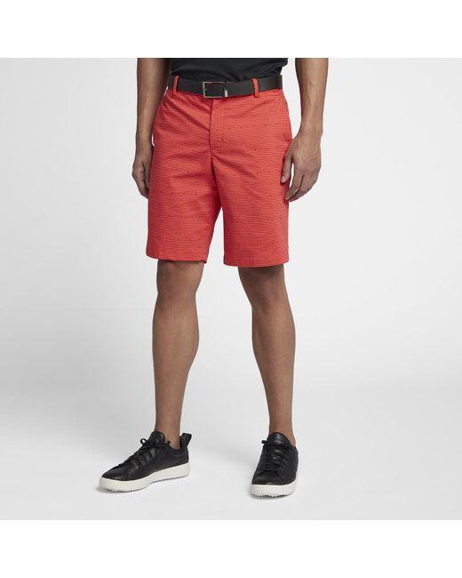 5d38463014ac Lyst - Nike Flex Men s Golf Shorts in Red for Men