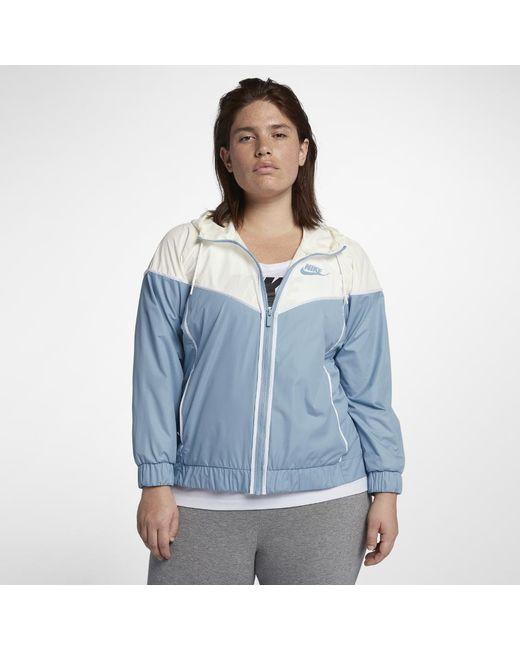 f86f0ec7bb Lyst - Nike Sportswear Windrunner (plus in Blue